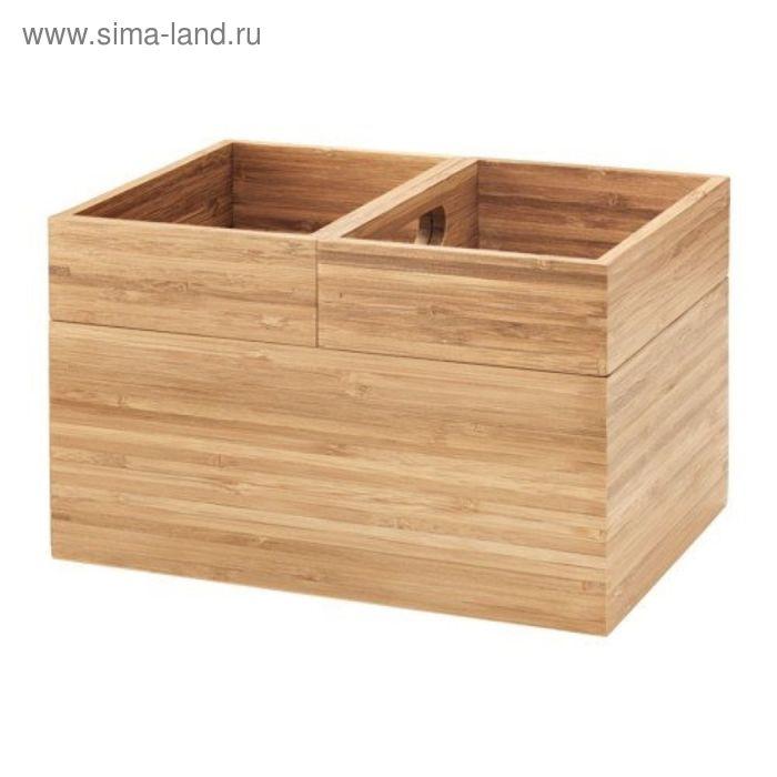 Набор ящиков 3 шт, бамбук ДРАГАН