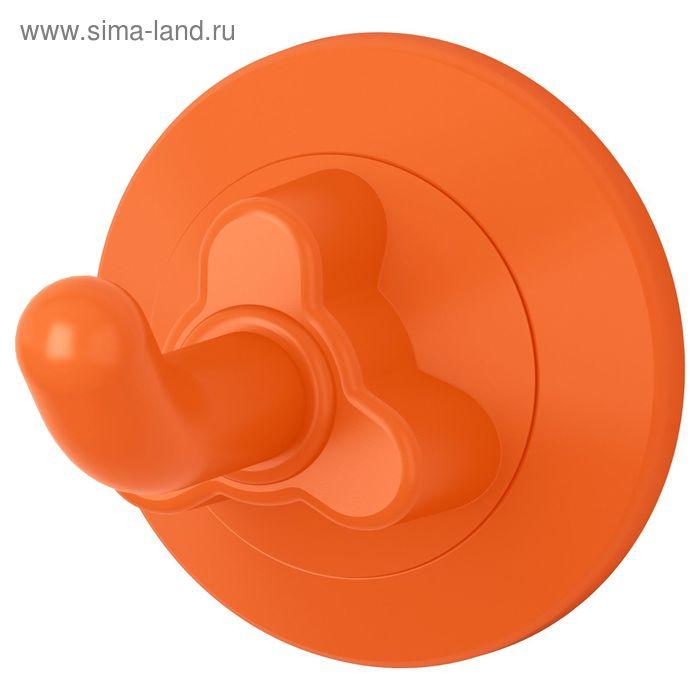 Крючок с присоской, цвет оранжевый ЛОДДАН
