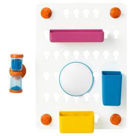 Панель с аксессуарами, 6 предметов, с присосками, цвет микс ЛОДДАН