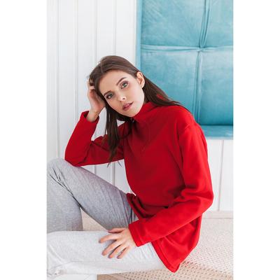 """Толстовка женская """"Ирис"""", цвет красный, на короткой молнии, размер 46 2032"""