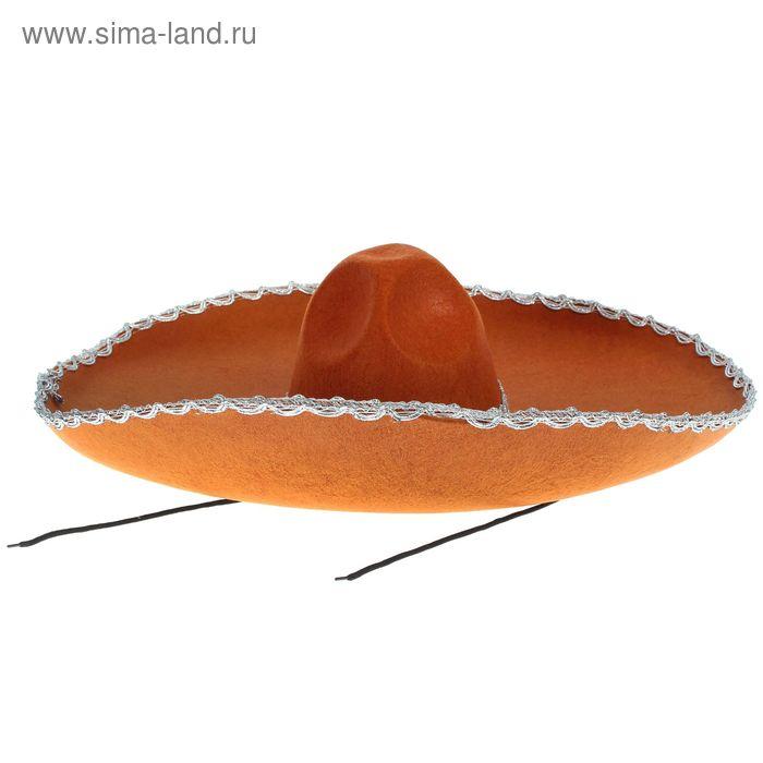 """Шляпа """"Мексиканец"""" коричневая"""