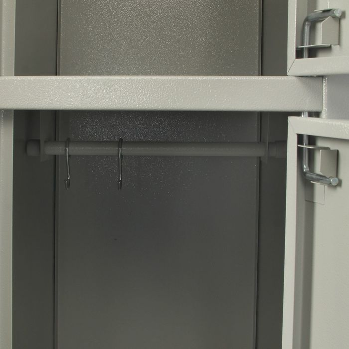 "Шкаф металлический,  камера хранения, 2 отделения, 2 замка ""Сam lock"""