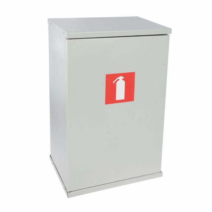 Шкаф металлический пожарный для огнетушителя, дверь на магнитной защелке