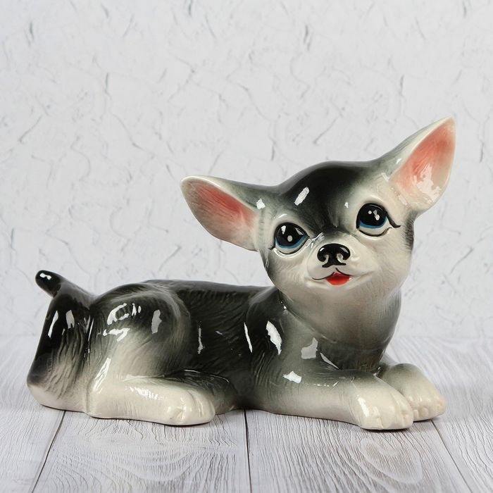 "Копилка ""Собака Малыш"", глазурь, микс"
