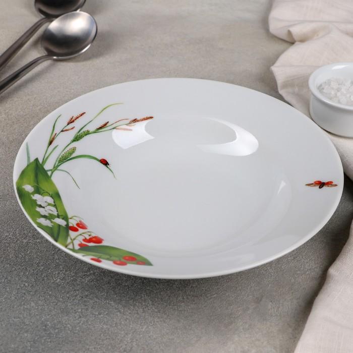 """Тарелка глубокая 20 см """"Славянский букет. Ландыши"""""""