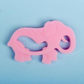 Прорезыватель силиконовый «Слон», цвет розовый