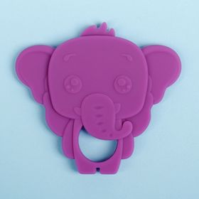 Silicone teether Elephant, the color purple
