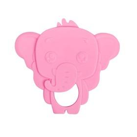 Прорезыватель силиконовый «Слоник», цвет розовый