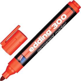 Маркер перманентный 3.0 мм EDDING E-300/2, (нестираемый) красный