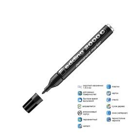 Маркер перманентный 3.0 мм EDDING E-2000C/1 (нестираемый) чёрный металлический корпус