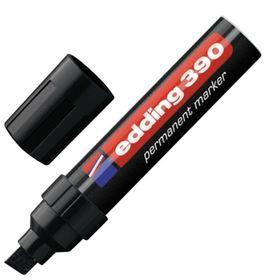 Маркер перманентный скошенный 4.0-12.0 мм EDDING E-390/1, (нестираемый) чёрный
