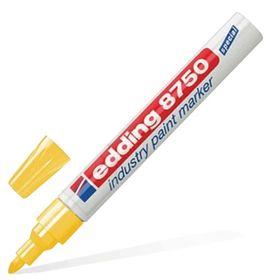 Маркер-краска (лаковый) промышленный 4.0 мм EDDING INDUSTRIAL Е-8750/5, жёлтый