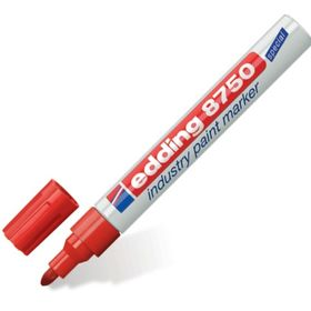 Маркер-краска (лаковый) промышленный 4.0 мм EDDING INDUSTRIAL Е-8750/2, красный