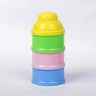 Контейнер пищевой для хранения детского питания, порционный сборный 3 секции, от 0 мес., цвета МИКС