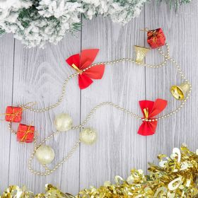 """The beads on the Christmas tree 90 cm """"Bows, bells, gifts"""""""