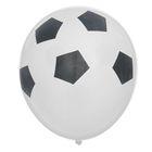 """Шар латексный 12"""" """"Футбольный мяч"""", пастель, набор 12 шт., цвет белый"""