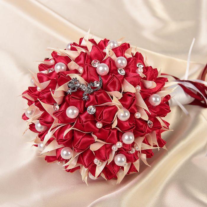 Светящиеся второй букет невесты из атласных красивые букеты