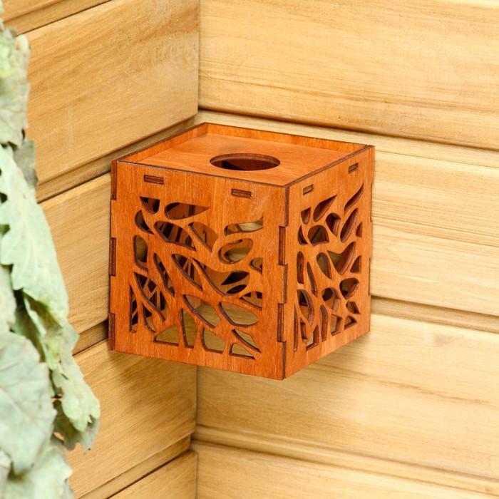 """Плафон деревянный """"Мозаика"""", коричневый, 10*10*10см"""