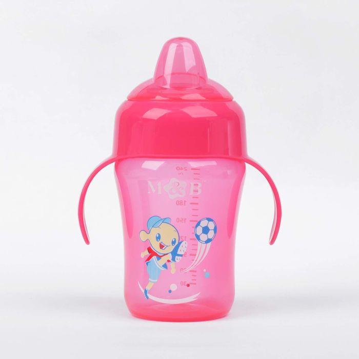 Поильник детский с мягким носиком, 240 мл, от 5 мес., цвет розовый
