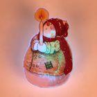 "Световая картинка на прищепке ""Снеговик рождественский""(батарейки в комплекте), 1 LED, RGB"