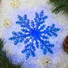 "Световая картинка на прищепке ""Снежинка""(батарейки в комплекте), оптоволокно, 1 LED, RGB"