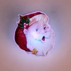 "Световая картинка на прищепке ""Дед Мороз""(батарейки в комплекте), оптоволокно, 1 LED, RGB"