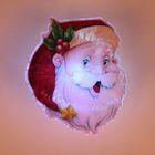 "Световая картинка на присоске ""Дед Мороз""(батарейки в комплекте), оптоволокно, 1 LED, RGB"