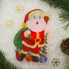 "Световая картинка на присоске ""Дед Мороз приветствует!""(батарейки в комплекте), 1 LED, RGB"