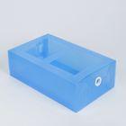Короб для хранения выдвижной 18×30×10 см, цвет синий