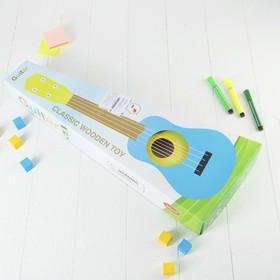 Игрушка музыкальная «Гитара», 54 см, зелёная