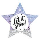 Шильдик декоративный на подарок Let it snow, 10 × 9,5 см