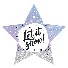 Шильдики на подарок 'Let it snow', 10*9,5 см Ош