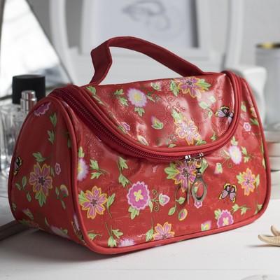 Косметичка сумка «Фантазия», отдел на молнии, цвет красный