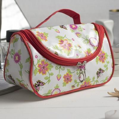 Косметичка сумка «Фантазия», отдел на молнии, цвет белый