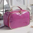 Косметичка-сундук «Блеск», отдел на молнии, цвет розовый