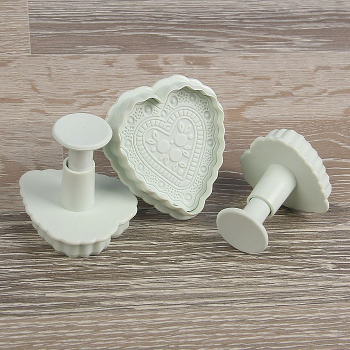 "A set of plungers confectionery ""Lace heart"", 3 PCs"