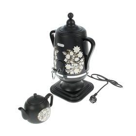 """Самовар электрический """"Добрыня"""" DO-412, 1850 Вт, 4 л, дисковый нагреватель, черный"""