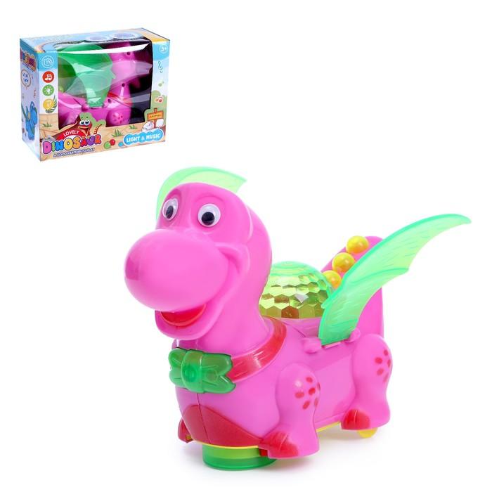 Развивающая игрушка «Дракончик», двигается, световые и звуковые эффекты, цвета МИКС