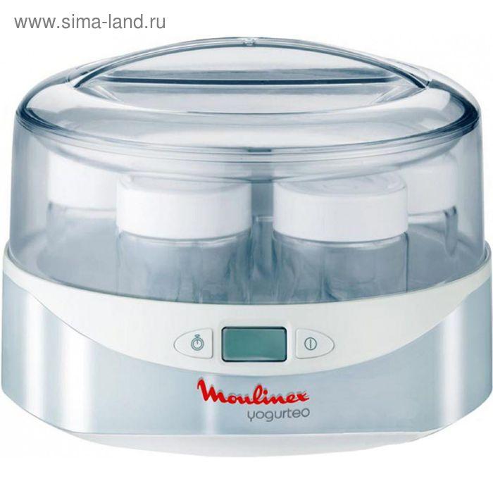 Йогуртница Moulinex YG 230131, 13 Вт, LCD диспл., цифр.таймер, 7 стекл.стаканов, белая