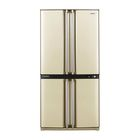 Холодильник Sharp SJ-F95STBE, класс А, объем 605 л, двухкамерный, бежевый