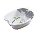 Гидромассажная ванночка для ног Medisana Ecomed Foot Spa, 65 Вт, белая/серая