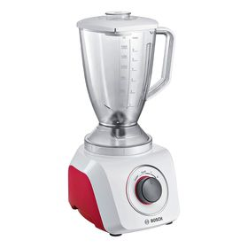 Блендер Bosch MMB 21P0R, стационарный, 500 Вт, белый/красный