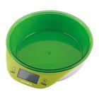 Весы Supra BSS-4086, съемная чаша, до 5 кг, зеленые