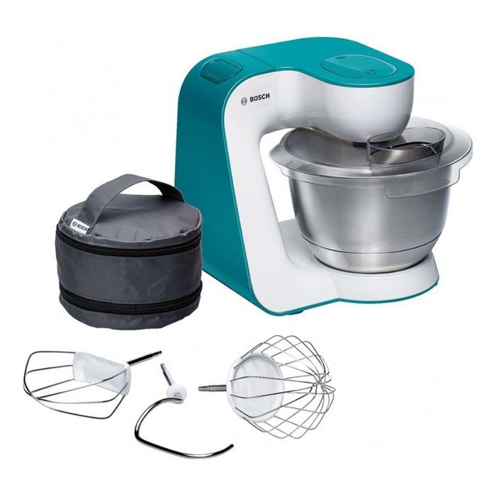 Кухонный комбайн Bosch MUM54D00, 900 Вт, белый/бирюзовый