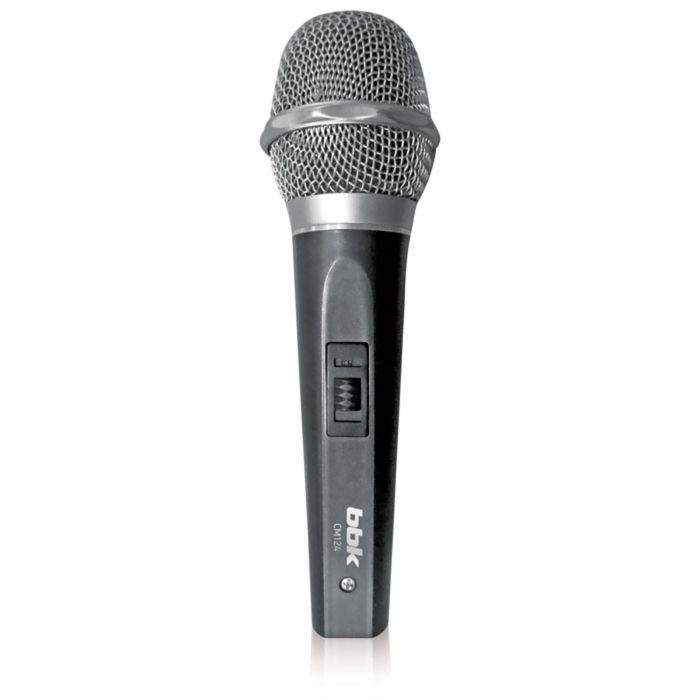 Микрофон BBK CM-124, кабель 3 м, металлический колпак, темно-серый