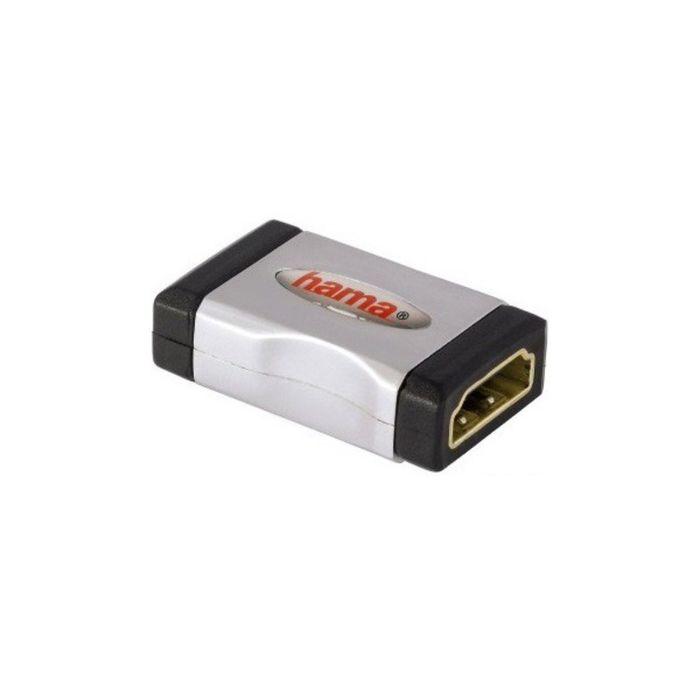 Адаптер аудио-видео Hama 00122231, HDMI (f), HDMI (f), позолоченные контакты, серый