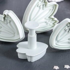 """A set of plungers pastry """"Leaves"""", 4-piece"""