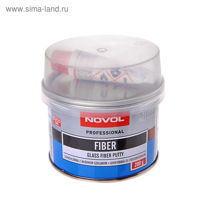 Шпатлёвка со стекловолокном Novol fiber 0,2 кг