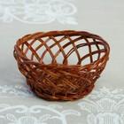 Конфетница «Ажур», D=11 см, H=5 см, бамбук