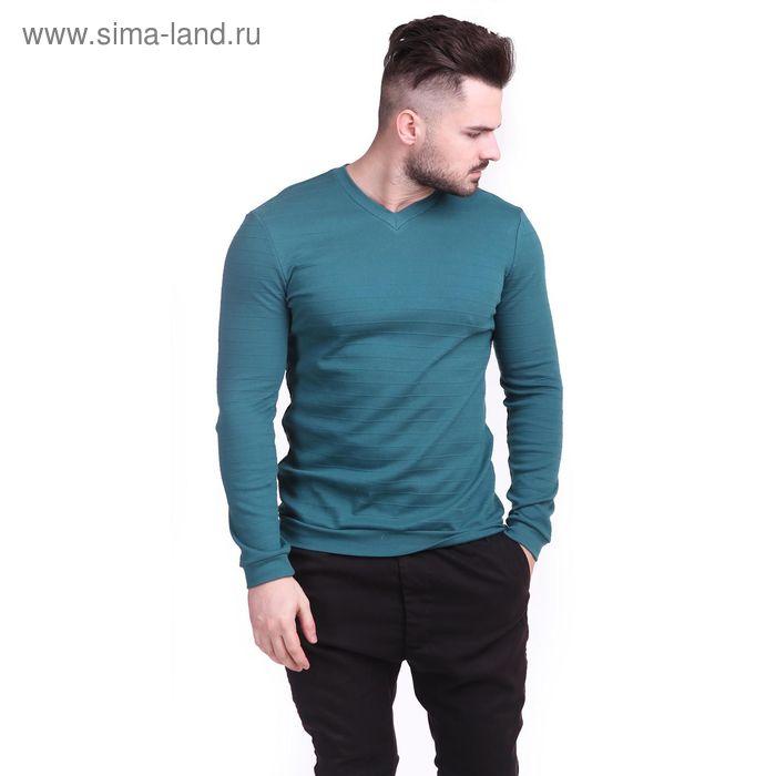 Джемпер мужской Р810285 цвет тёмно-зелёный, рост 182-188 см, р-р 54